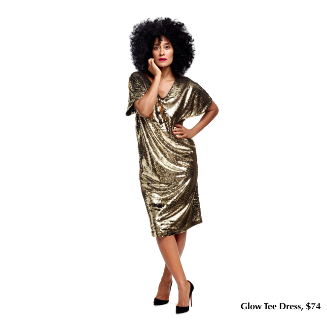 tracee-ellis-ross-jcpenney-glow-tee-dress-gold
