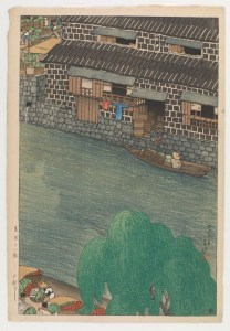 Daikon Embankment Woodblock print